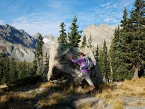 Pushing Boulder Pawnee Pass